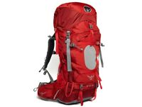 Osprey Ariel 65L Rucksack Backpack Travel Pack Red Women's Size M Used only once great condition