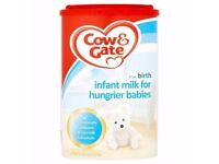 Cow and Gate Infat Milk for hungrier babies NEW unopened box