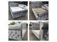 New Crushed velvet bed frame