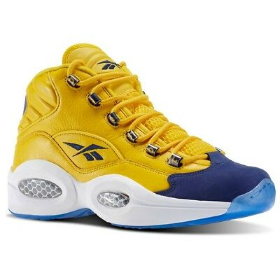 Reebok Question Mid (Sport Yellow/Collegiate N) Men's Shoes V72127 (18) for sale  Shipping to Canada