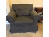 Single-seater IKEA sofa in grey