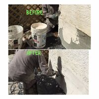 PARGING&STUCCO REPAIR and Stucco  paint