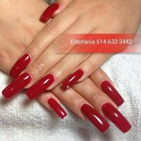 POSE D'ONGLES ACRYLIC,GEL,RESINE,PEDICURE, SHELLAC ECT