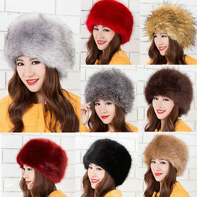 Frauen Faux-Pelz-Russische Kosaken-Art-Winter-Hut Warm-Kappe