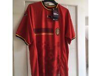 Retro international football shirts.