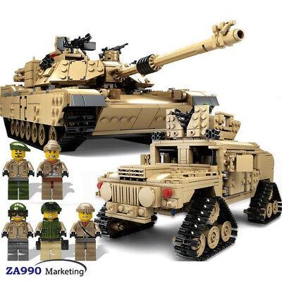 1463Pcs Building Blocks Set Military USA ABRAMS MBT Tank & HUMMER Toys Gift Kids (Toy Building Sets)