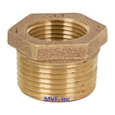 34 X 14 Lead-free Brass Hex Reducer Bushing 125 Threaded Npt Br12050241