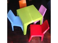 CHILDREN'S MULTICOLOUR TABLE AND CHAIRS SET – EXCELLENT QUALITY