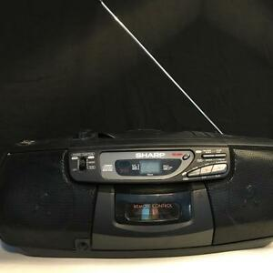SHARP QT-CD77 STEREO RADIO, CASSETTE RECORDER & CD PLAYER