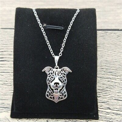 Pit Bull Puppy Dog Pet Lover Pendant Necklaces Alloy Jewelry Woman ()