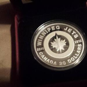 Winnipeg Jets Silver Coin 2011 Minting