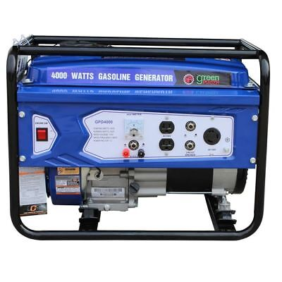 Green-Power America 4000W Portable Gas Powered Generator w/ Recoil Start
