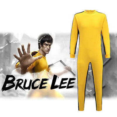 Kids Bruce Lee Game of Death Jumpsuit Halloween Cosplay Costume Unisex Outsuit