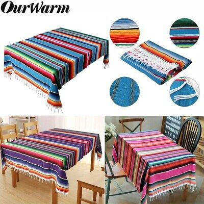 Mexican Serape Table Runner Blanket Cotton Tablecloth Cover  Wedding Party Decor](Serape Tablecloth)