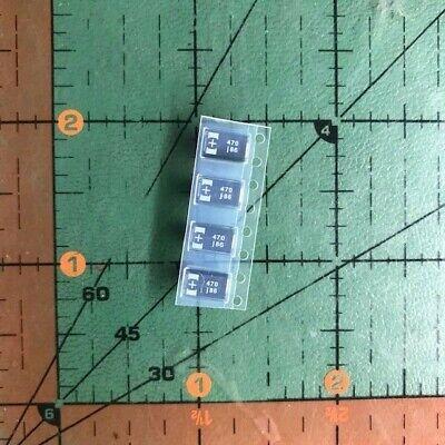 470uf 6.3v Sanyo Tantalum Capacitor 6tpb470m Ps3 Repair Low Esr Rohs 4pcs
