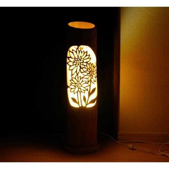 Original Design Japanese Bamboo Lamp Lanterns Made of Moso bamboo shipped Japan