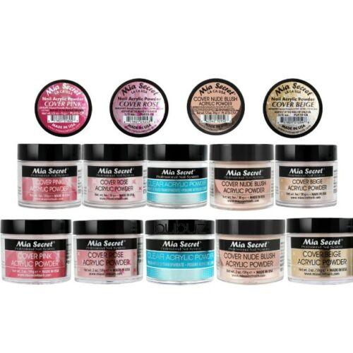 Mia Secret Acrylic Powder - NUDE BLUSH PINK ROSE BEIGE CLEAR 0.5oz 1oz 2oz 4oz
