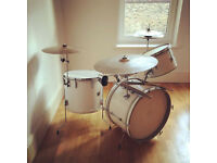 Vintage Ajax Premier Jazz Drumkit Zildjian Cymbals Sizzle Compact Size