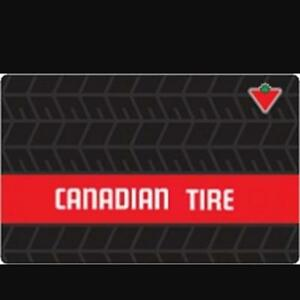 Canadian Tire Gift Card $50 - trade for Home Depot, Lowe's or BB
