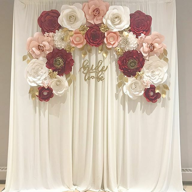 Paper Flower Curtain Backdrop Wedding Showers Other Ottawa