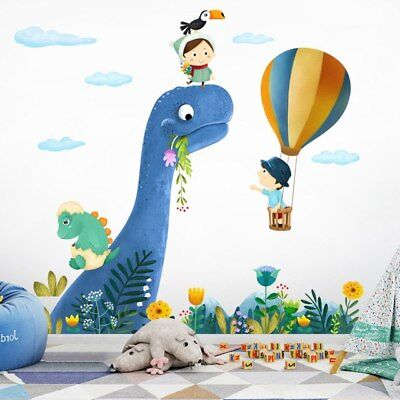 - Cartoon Wall Stickers For Kids Rooms Cute little Dinosaur Wall Decal Animal Baby