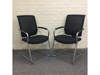Mesh Back Cantilever Frame Meeting Chairs