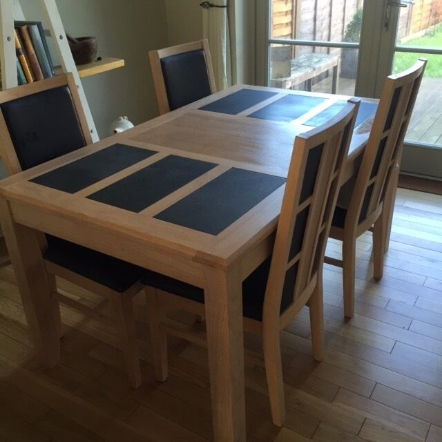 Dining Room Table With Slate Inserts Dining Room Ideas