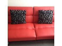 LOVELY RED SOFA BED