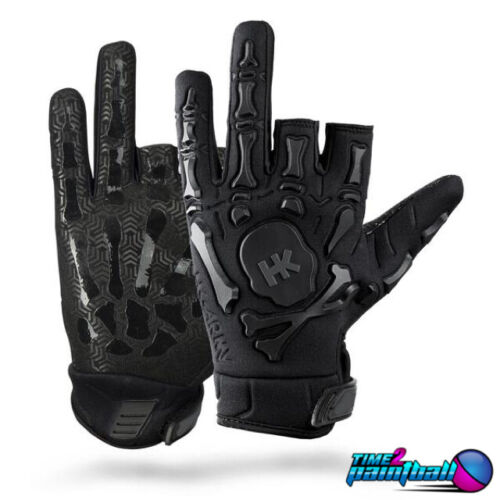HK Army Paintball Bones Gloves - Black - XL **FREE SHIPPING**