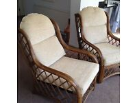 Two cane chairs