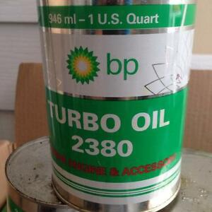 BP TURBO OIL 2380 AVIATION 1 QT  (10 Cans)
