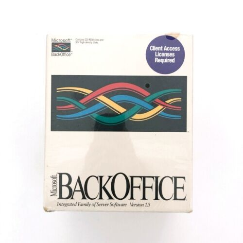 MICROSOFT BackOffice Server Software Version 1.5 NEW + SEALED (SHIPS FAST)