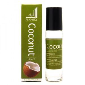 Coconut Perfume Oil by Al Aneeq - Creamy Soft Long Lasting Fragrance oil 10ml