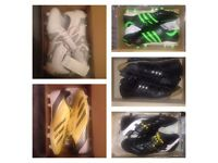 Brand new boxed adidas and pantofola football boots