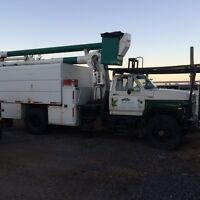 1991 Ford F800 Forestry Bucket Truck *tree removal