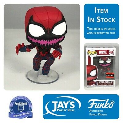 Funko Pop! Spider-Man Spider-Carnage AAA Anime Exclusive w/ PopShield In Stock