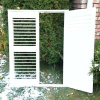 PVC louvered indoor window shutters