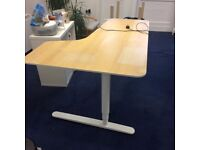 Nearly new office desk - BEKANT from IKEA, rrp £535
