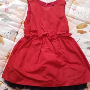 UNITED COLORS OF BENETTON RED Wedding BABY GIRL DRESS SIZE 18-24