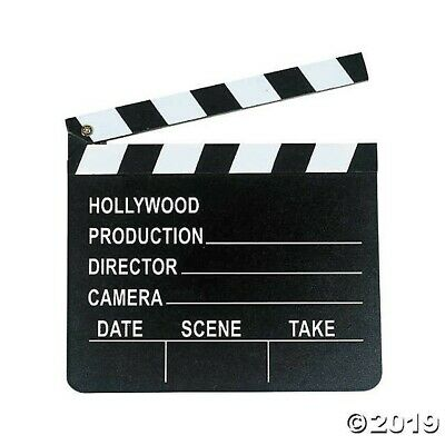 HOLLYWOOD Movie Themed Party Decor Prop Wooden DIRECTOR'S CLAPBOARD