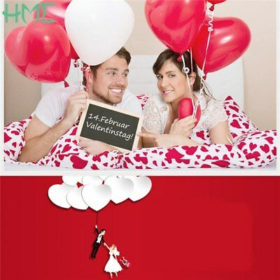 10 Red Heart LATEX Helium Balloons Valentines Day Wedding Engagement Decorations (Red Heart Helium Balloons)