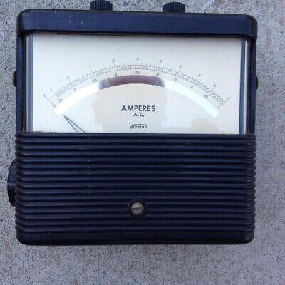 Analog Ac Ampere Meter Rang 0 --- 0.5 A 0----1 Aweston Electrical Instrument