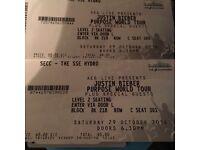 2 Justin bieber seated tickets