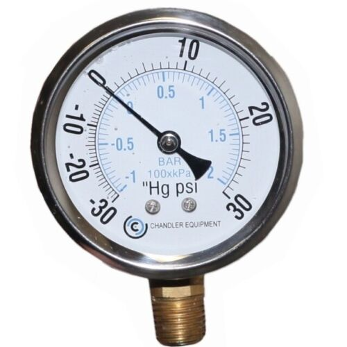 """4"""" Liquid Filled Vacuum/Pressure Gauge"""