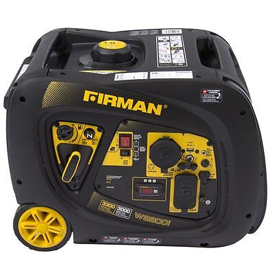Firman Portable Gas Inverter Generator 3300 3000 Watt W03082 Power Equipment