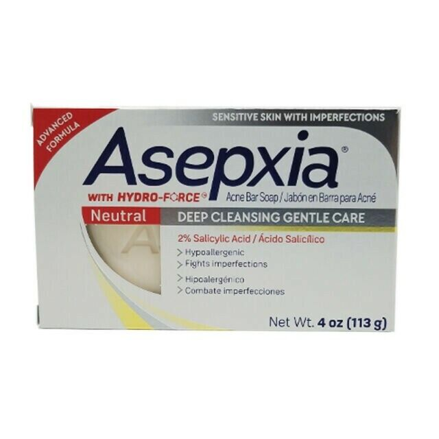 Asepxia Neutral Bar Soap. Anti Acne. Gentle Cleansing with S