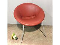Red Designer Tub Chair