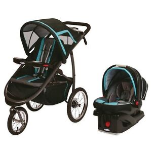 Graco FastAction FoldClick Connect Travel System in Tidal Wave