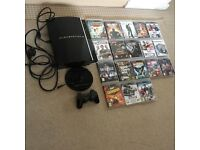 PS3 Console + 2 Controllers (1 wireless) + HDMI Lead + 18 Top GAMES!