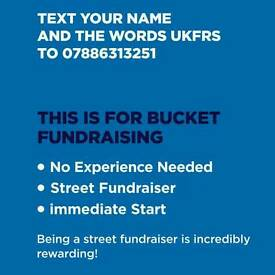 Street Fundraiser immediate Start THIS IS FOR BUCKET FUNDRAISING